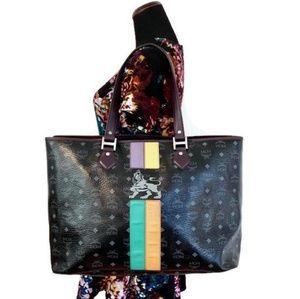 MCM Authentic Black Large Shopper Tote Bag